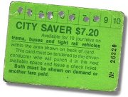 M&MTB City Saver ticket, early 1980s